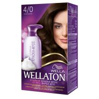 Краска-мусс для волос Wellaton стойкая 4/0 Темный шоколад (4056800997831)