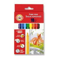 Фломастеры KOH-I-NOOR Fibre pens 1002, 10 colors, картон (771002AJ08KS)