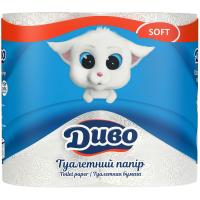 Туалетная бумага Диво Soft 2-слойная белая 4 шт (тп.дв4б)