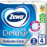 Туалетная бумага Zewa Deluxe 3-слойная Белая 4 шт (7322540313369)