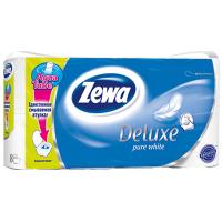 Туалетная бумага Zewa Deluxe 3-слойная Белая 8 шт (7322540313345)