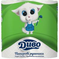 Бумажные полотенца Диво 2-слойные белые 50 отрывов 2 шт (рп.дв2б)