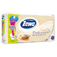 Туалетная бумага Zewa Deluxe 3-слойная Аромат СПА шампань 8 шт (7322540569483)