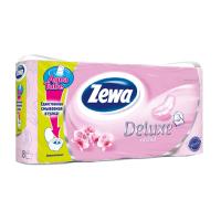 Туалетная бумага Zewa Deluxe 3-слойная Орхидея Розовая 8 шт (7322540569513)