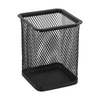 Подставка для ручек Axent square 80х80х100мм, wire mesh, black (2111-01-A)