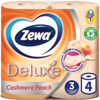 Туалетная бумага Zewa Deluxe 3-слойная Персик 4 шт (9011111035769)