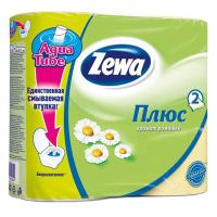 Туалетная бумага Zewa Plus 2-слойная Ромашка Желтая 4 шт (4605331030304)