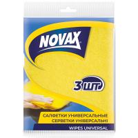Салфетки для уборки Novax универсальные 3 шт (4823058302072)