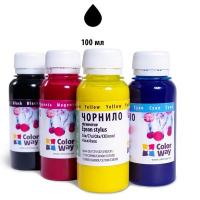 Чернила ColorWay Epson SP R270/290 RX500 TX650 Black (CW-EW650BK01)