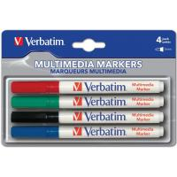 Маркер Verbatim MULTI MEDIA MARKER 4шт/PACK (BLACK/RED/BLUE/GREEN) (44120)