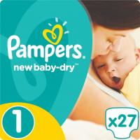 Подгузник Pampers New Baby-Dry Newborn (2-5 кг), 27шт (4015400264453)
