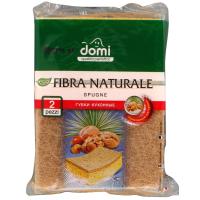 Губки кухонные DOMI натуральная фибра 2 шт (7212 DI)