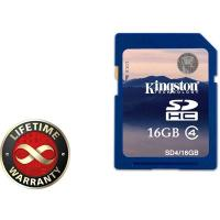 Карта памяти 16Gb SDHC class 4 Kingston (SD4/16GB)