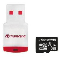 Карта памяти Transcend 8Gb microSDHC class 10 (TS8GUSDHC10-P3)