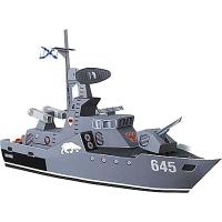 Сборная модель Умная бумага Ракетный катер Бывалый серии Военная техника (26)