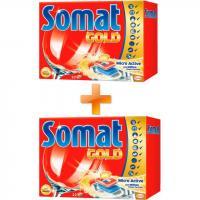 Таблетки для посудомоечных машин Somat Голд 22 шт + вторая упаковка в подарок (9000100989152)