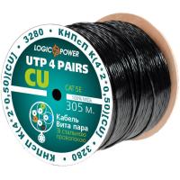 Кабель сетевой UTP 305м cat.5e КНПсП К(4*2*0,50)[СU] сталь. провол. 1*1,4мм LogicPower (3280)