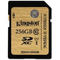 Карта памяти Kingston 256GB SDXC class 10 UHS| U1 (SDA10/256GB)