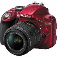 Цифровой фотоаппарат Nikon D3300 Kit 18-55 VR AF-P Red (VBA391K002)