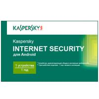 Программная продукция Kaspersky Internet Security for Android 1-PDA 1 year Base Card (KL1091OOAFS16)
