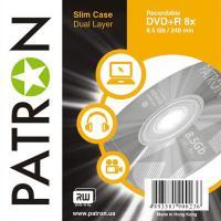 Диск DVD PATRON 8.5Gb 8x SLIM CASE 10шт Dual Layer (INS-D033)