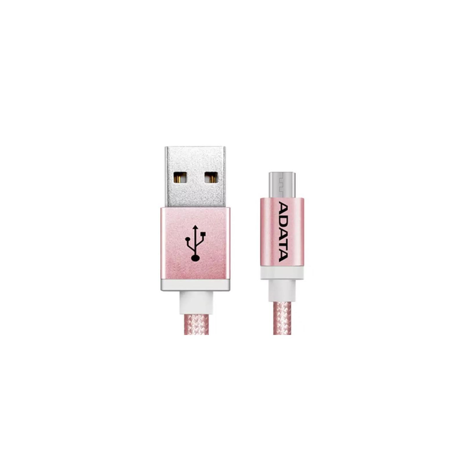 Дата кабель USB 2.0 AM to Micro 5P 1.0m Rose Golden ADATA (AMUCAL-100CMK-CRG) изображение 2