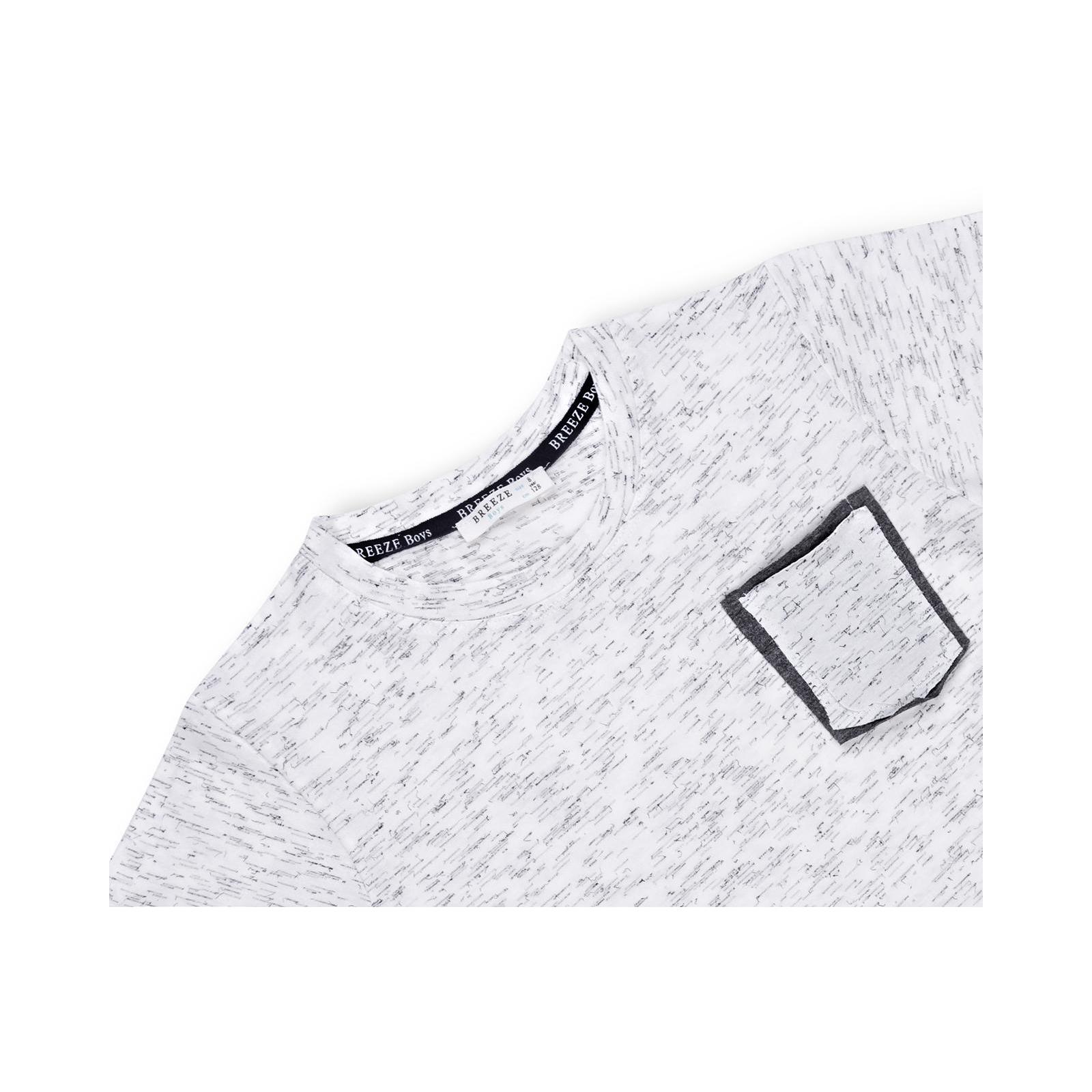 Футболка детская Breeze с карманчиком (11075-140B-gray) изображение 3