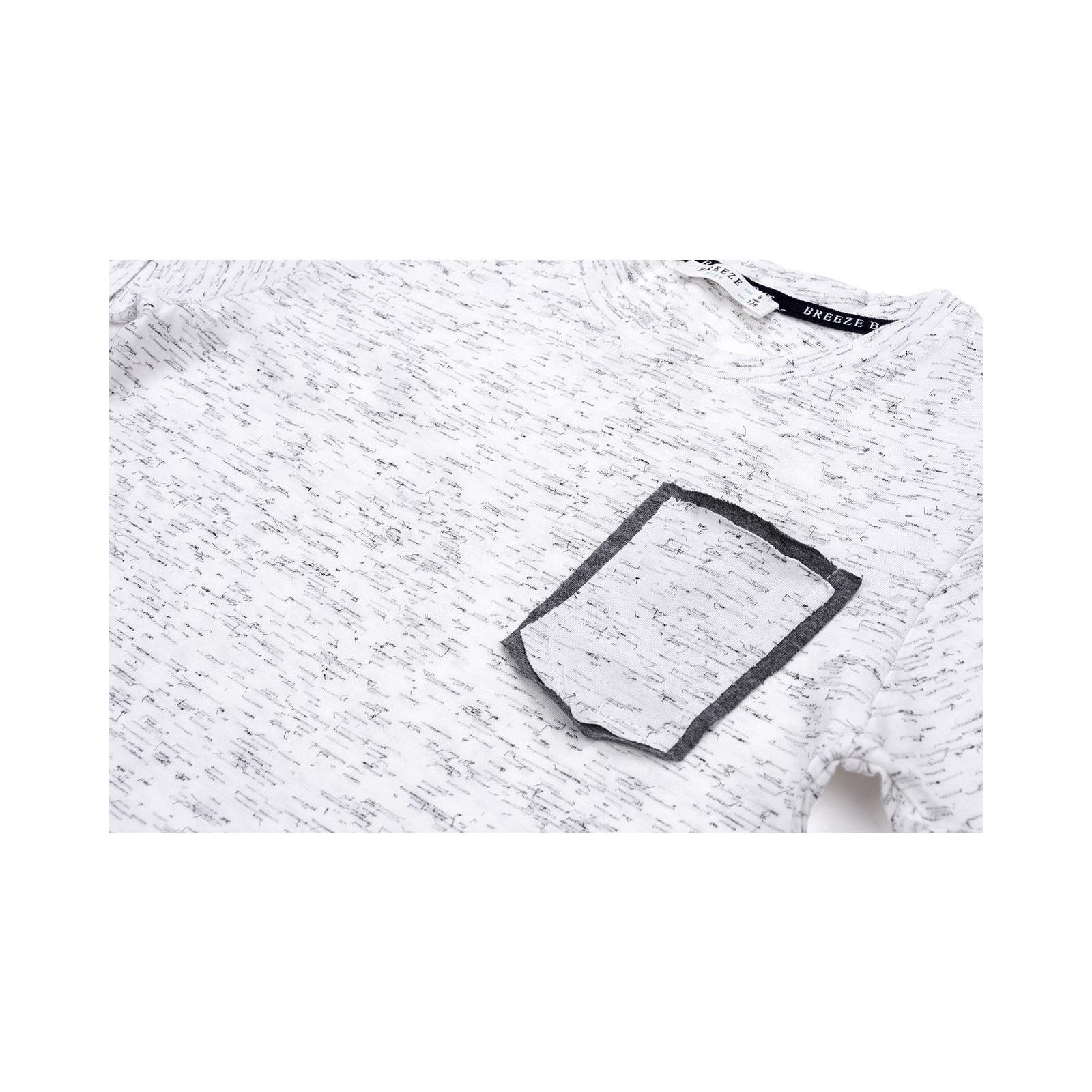 Футболка детская Breeze с карманчиком (11075-140B-gray) изображение 5