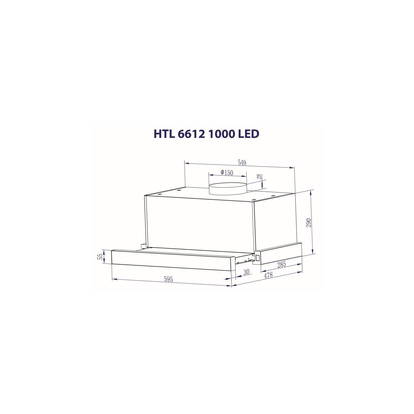 Вытяжка кухонная MINOLA HTL 6612 WH 1000 LED изображение 3