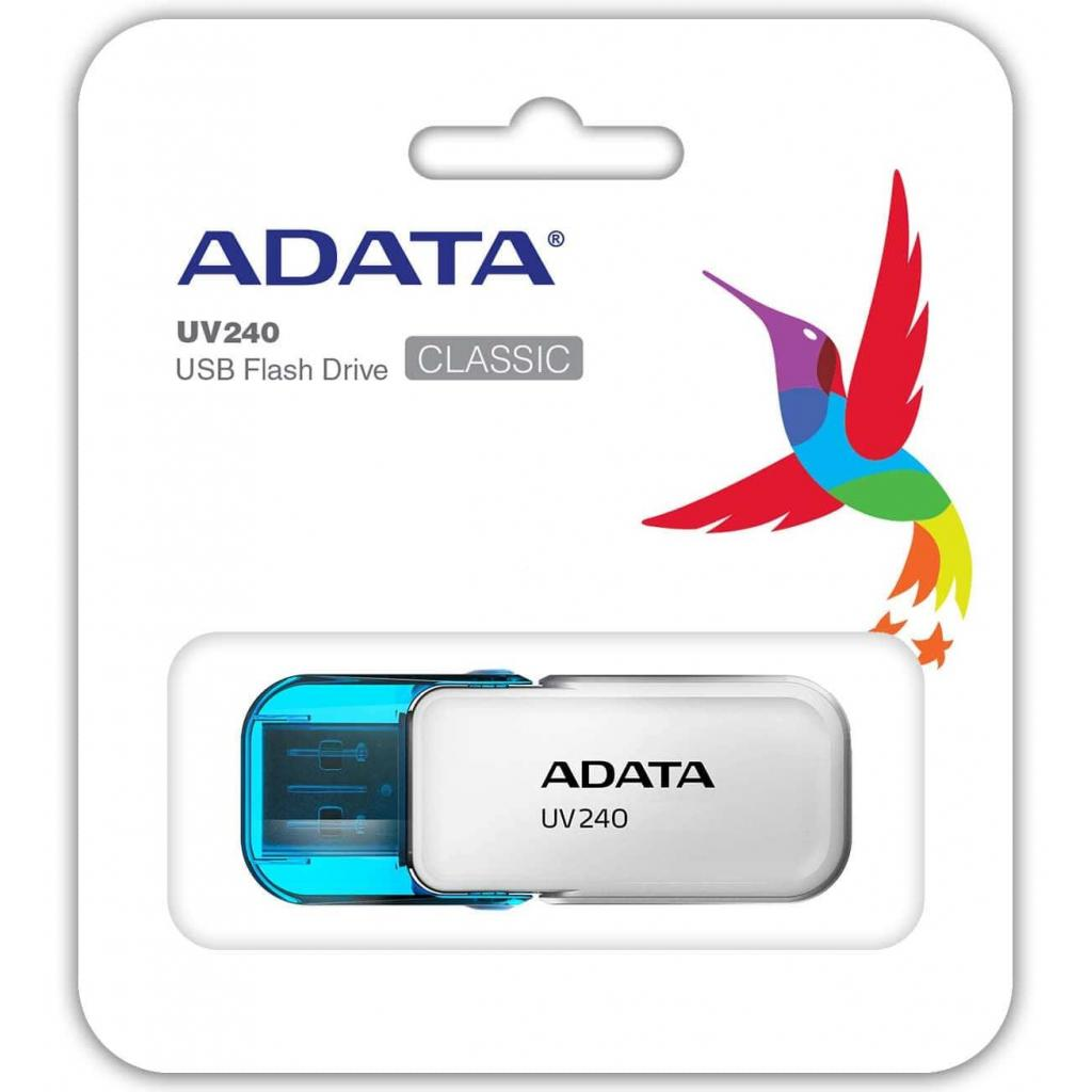 USB флеш накопитель A-DATA 8GB UV240 White USB 2.0 (AUV240-8G-RWH) изображение 3