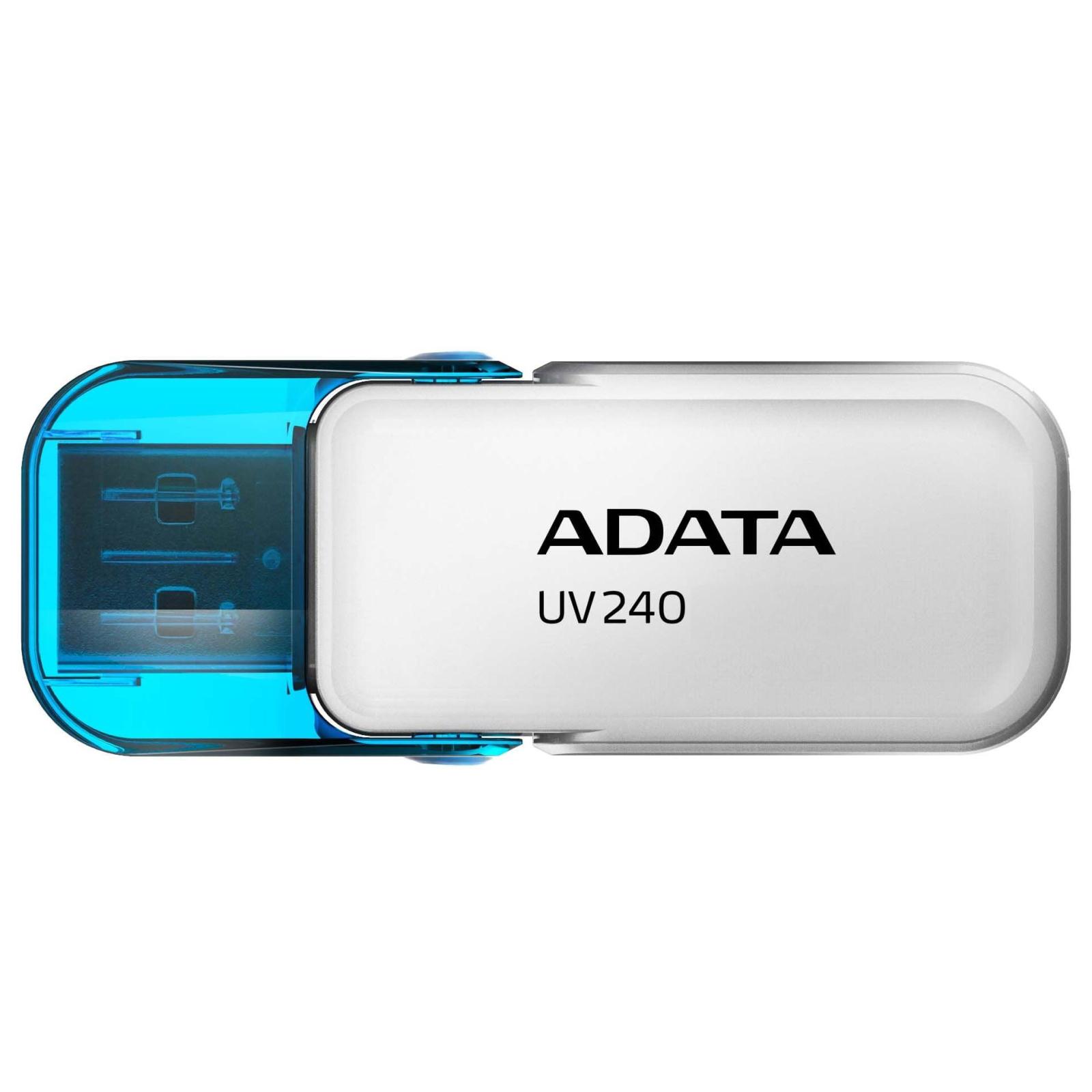 USB флеш накопитель A-DATA 8GB UV240 White USB 2.0 (AUV240-8G-RWH)