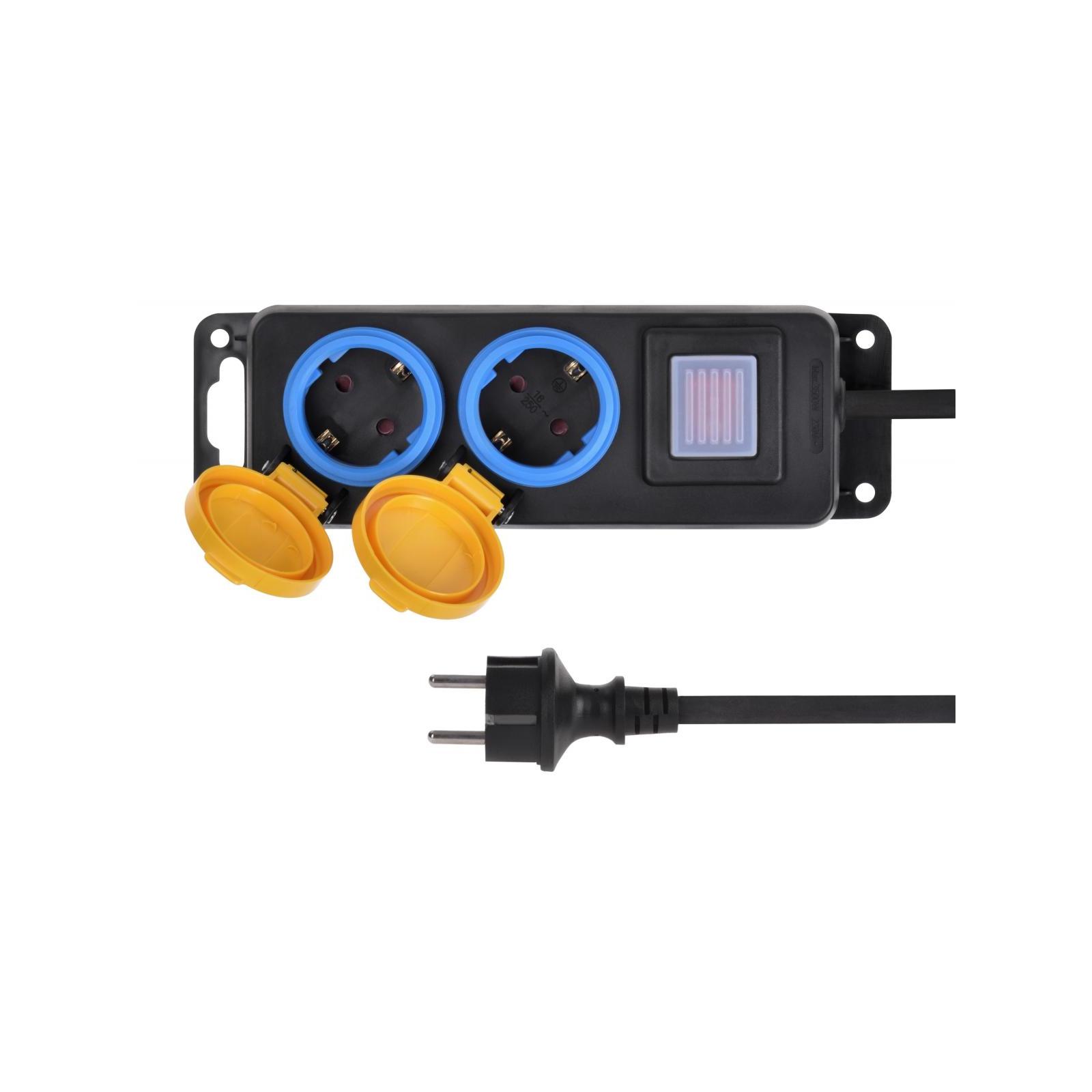 Сетевой фильтр питания 2E 2xSchuko ІР44 (2E-U02ESPM3) изображение 3