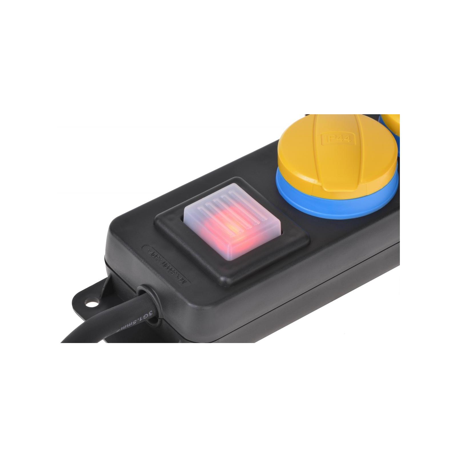 Сетевой фильтр питания 2E 2xSchuko ІР44 (2E-U02ESPM3) изображение 4