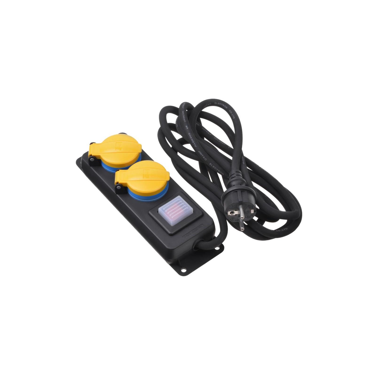 Сетевой фильтр питания 2E 2xSchuko ІР44 (2E-U02ESPM3)