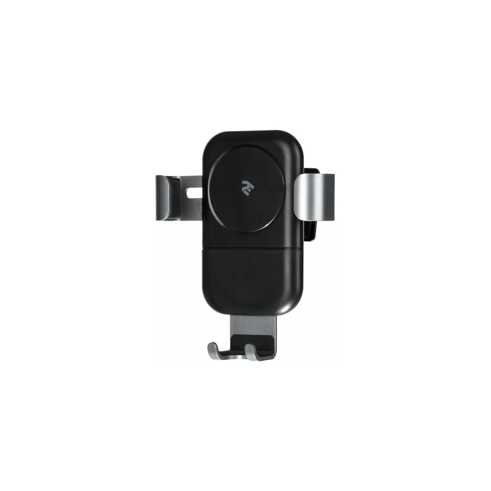 Зарядний пристрій 2E Gravity Car Mount Wireless Charger, 10W, black (2E-WCQ01-05)