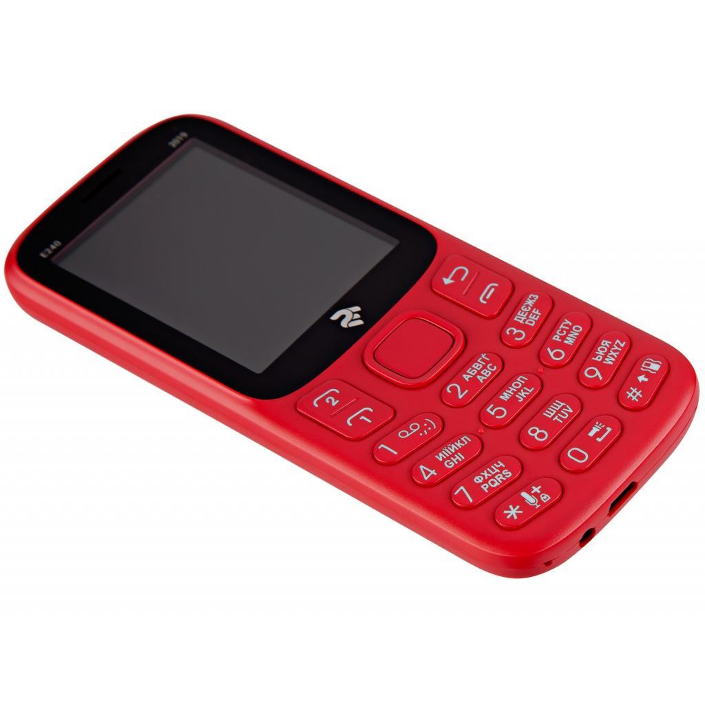 Мобільний телефон 2E E240 2019 Red (680576170019) зображення 7