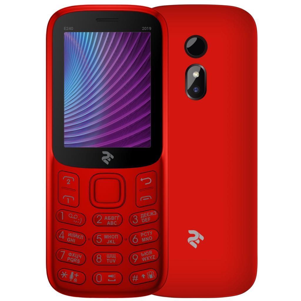 Мобільний телефон 2E E240 2019 Red (680576170019) зображення 9