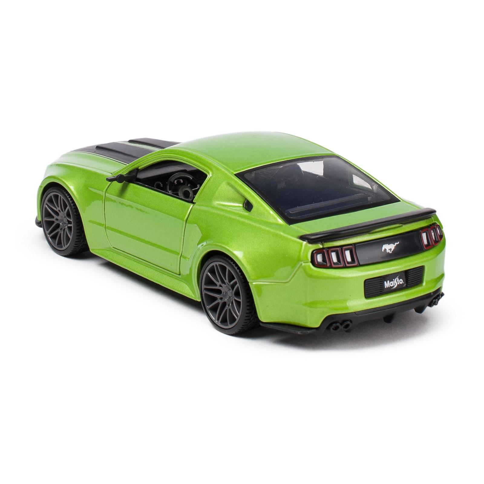 Машина Maisto Ford Mustang Street Racer 2014 (1:24) зеленый металлик (31506 met. green) изображение 2