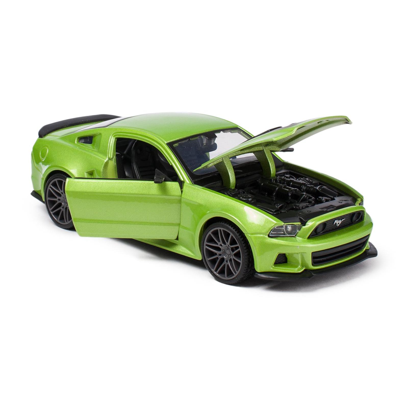 Машина Maisto Ford Mustang Street Racer 2014 (1:24) зеленый металлик (31506 met. green) изображение 3