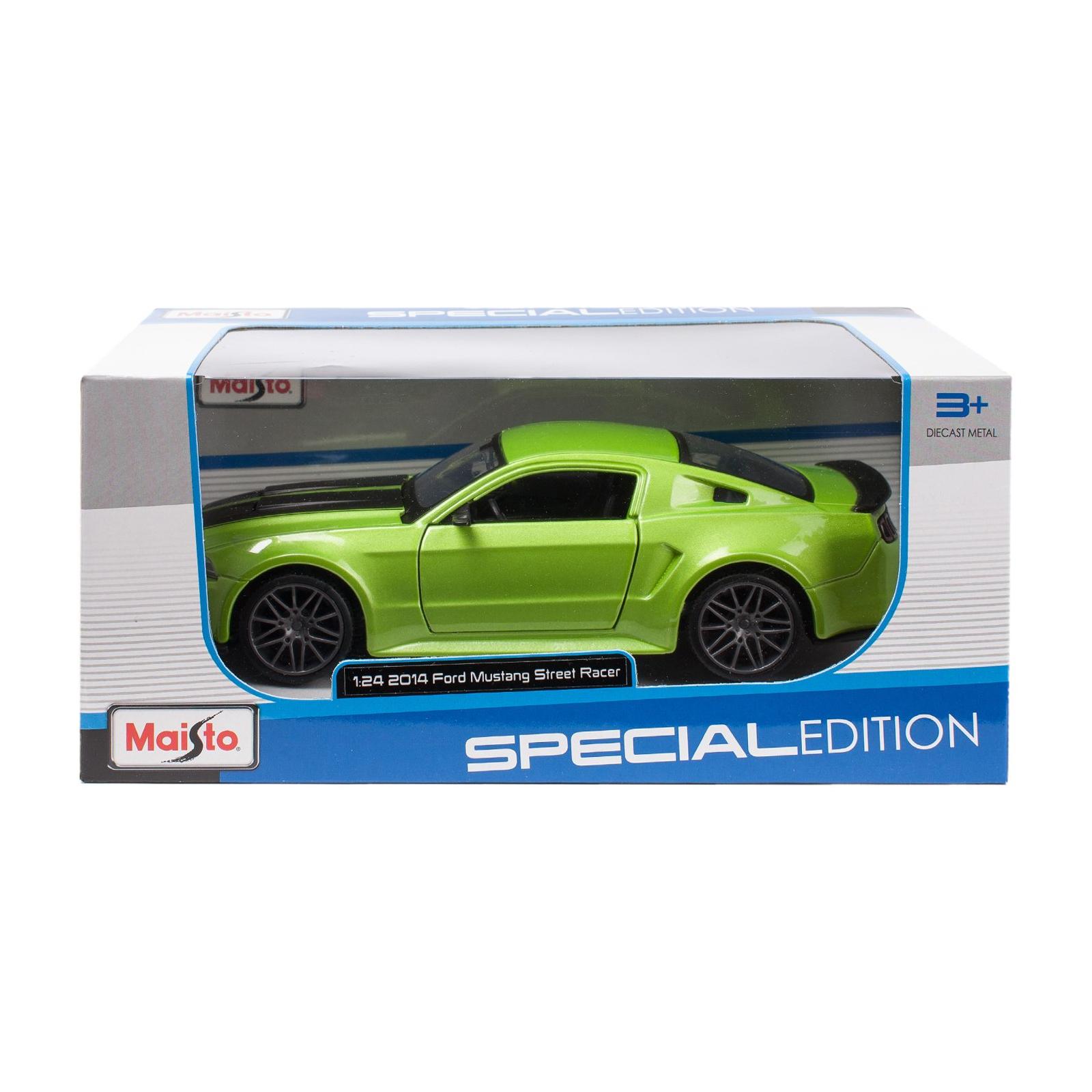 Машина Maisto Ford Mustang Street Racer 2014 (1:24) зеленый металлик (31506 met. green) изображение 5