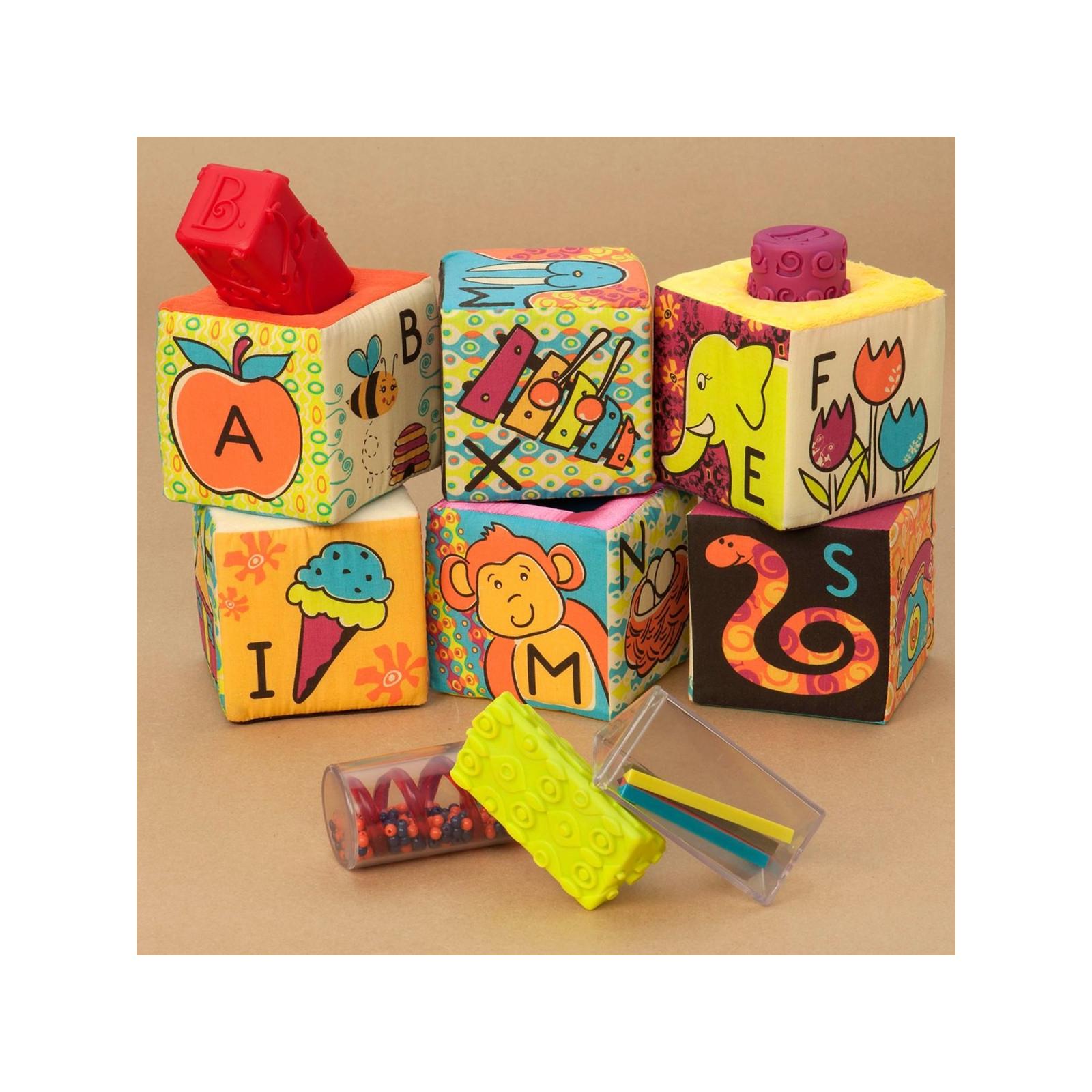 Развивающая игрушка Battat мягкие кубики-сортеры ABC (BX1477Z) изображение 4