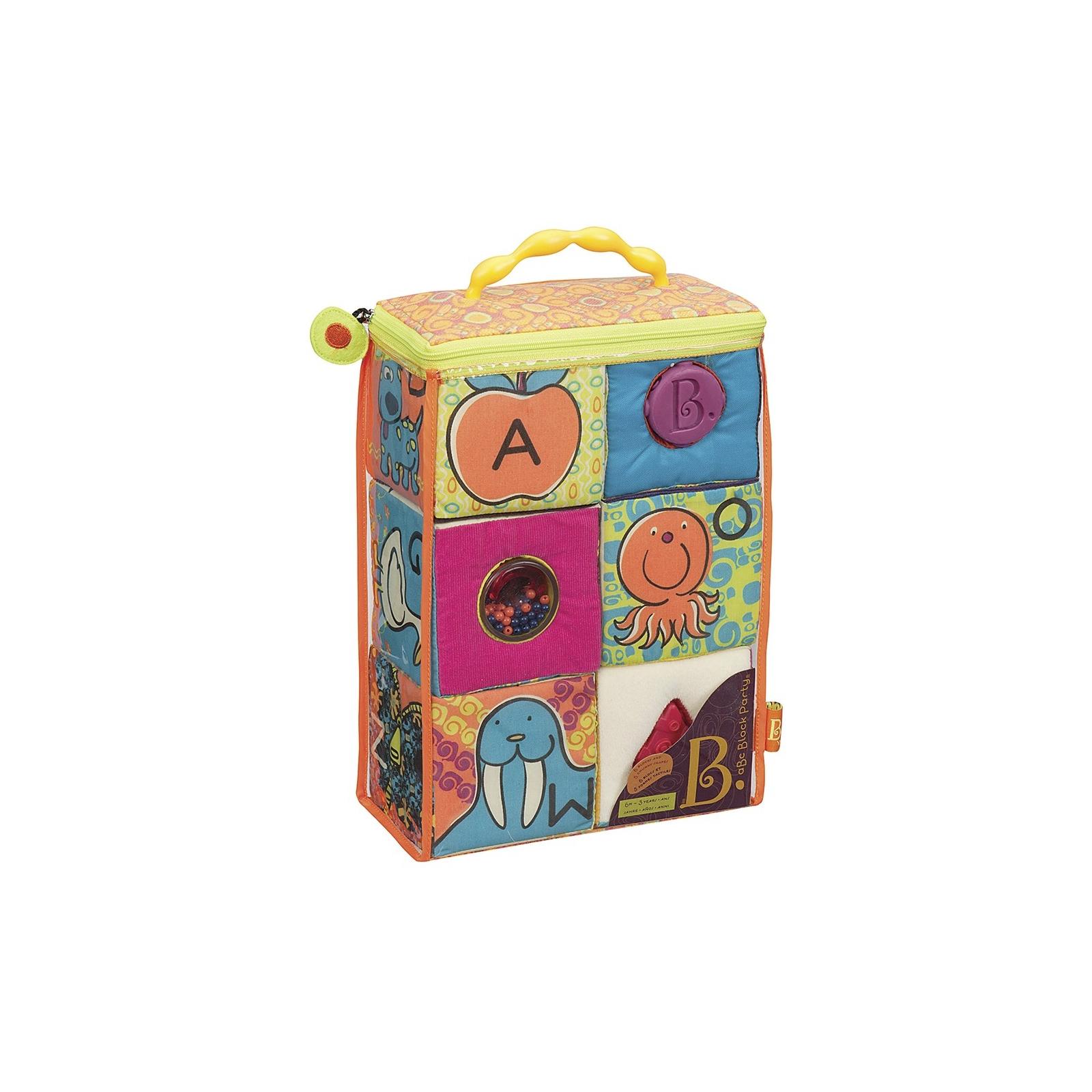 Развивающая игрушка Battat мягкие кубики-сортеры ABC (BX1477Z)