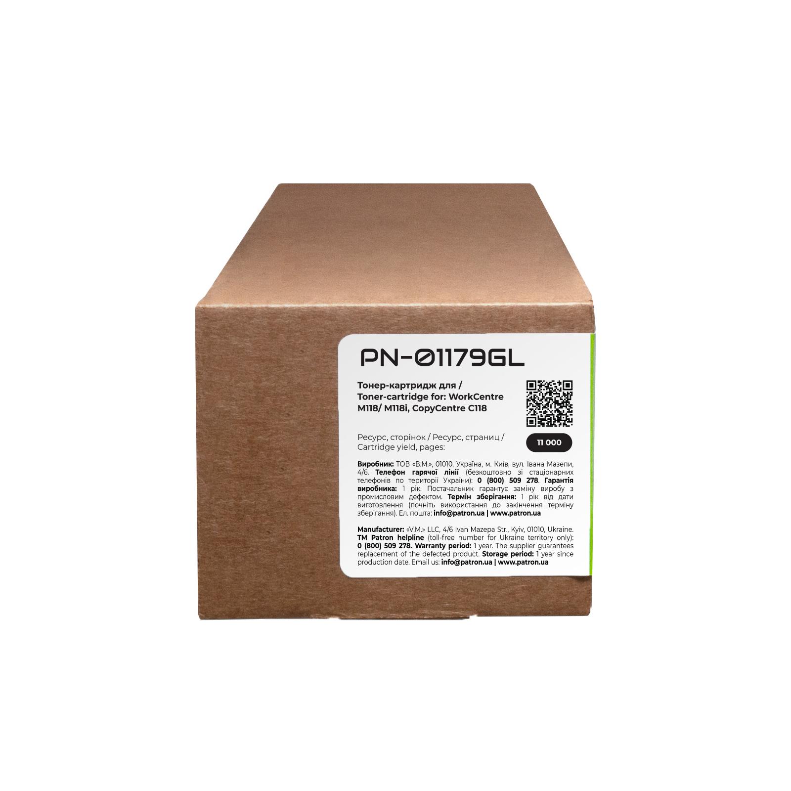 Тонер-картридж Patron XEROX WC M118/006R01179 GREEN Label (PN-01179GL) изображение 3