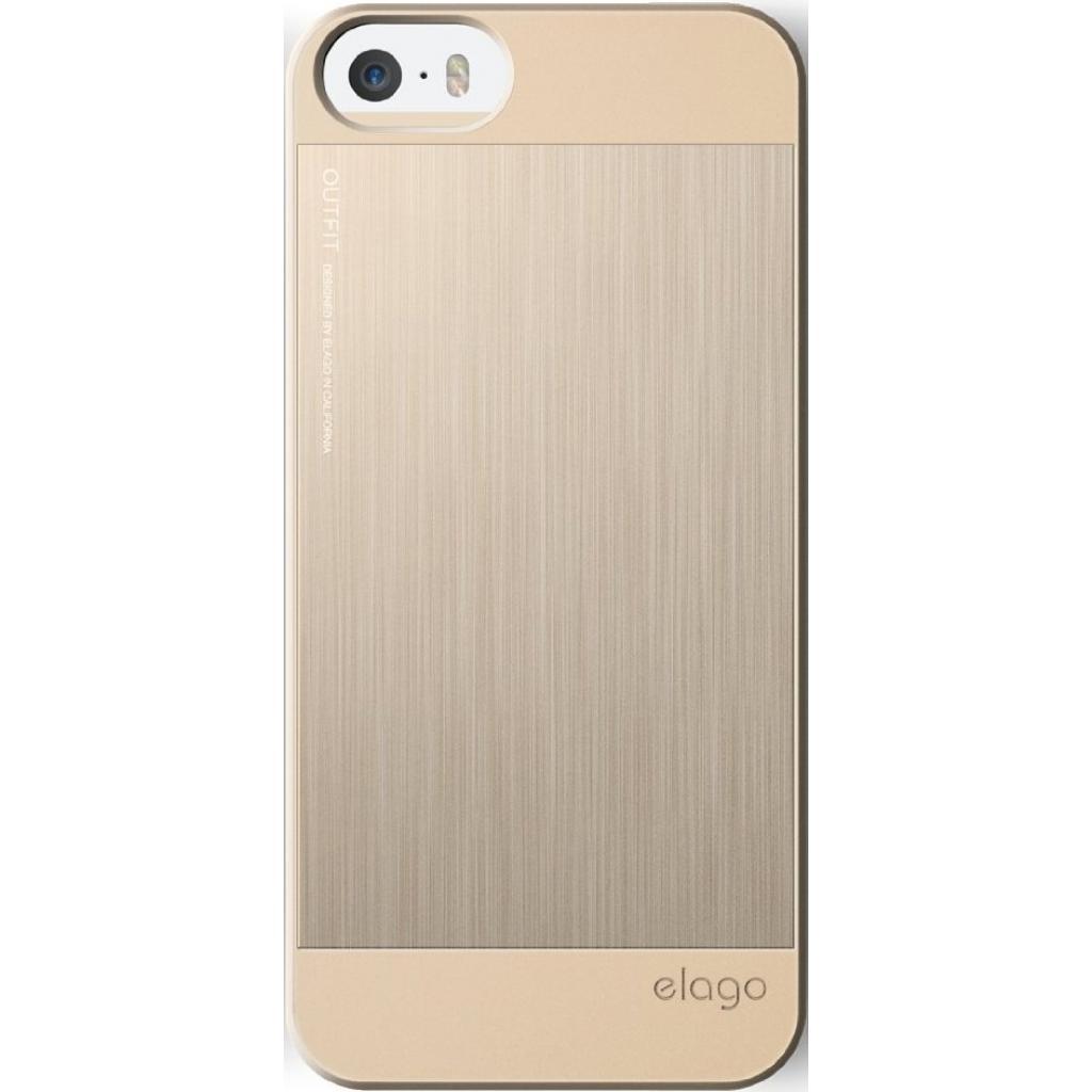 Чехол для моб. телефона ELAGO для iPhone 5/5S /Outfit MATRIX Aluminum/Gold (ELS5OFMX-GDGD-RT) изображение 3