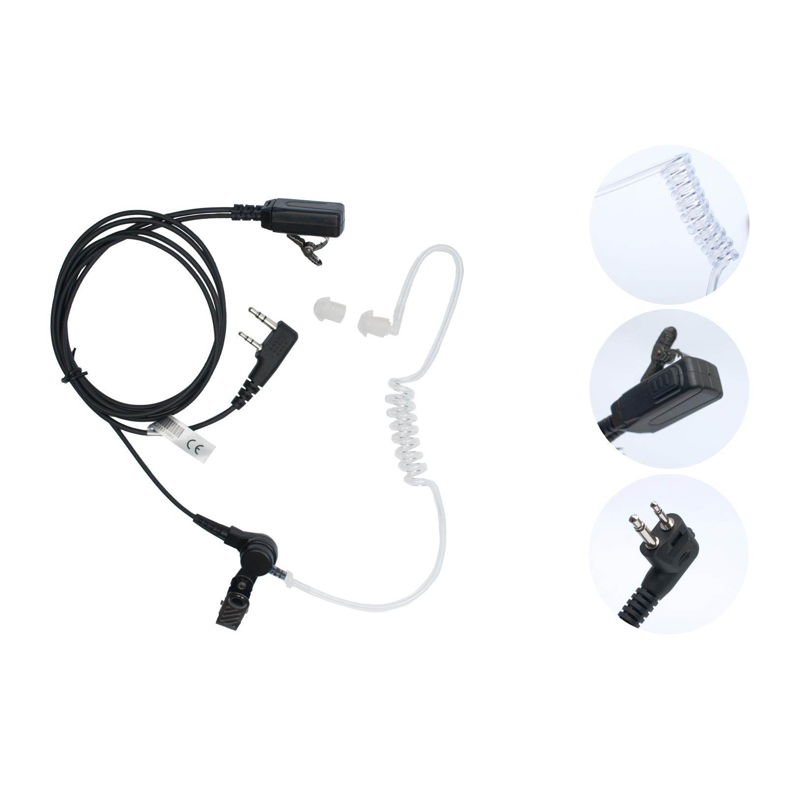 Наушники Agent cкрытого ношения c прозрачным звуководом и mini VOX РТТ (A-023K1)