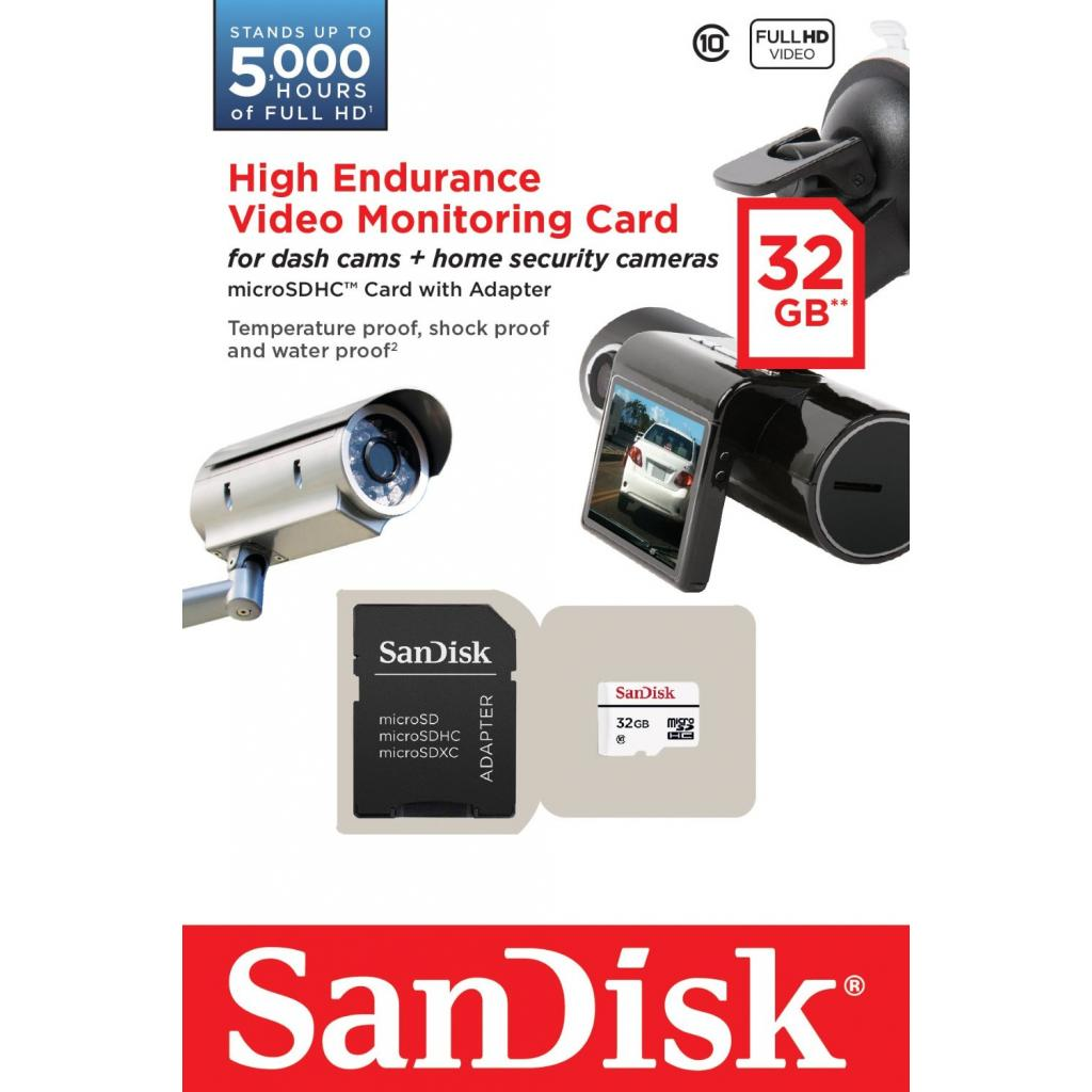 Карта памяти SANDISK 32GB microSDHC class 10 High Endurance Video Monitoring (SDSDQQ-032G-G46A) изображение 3