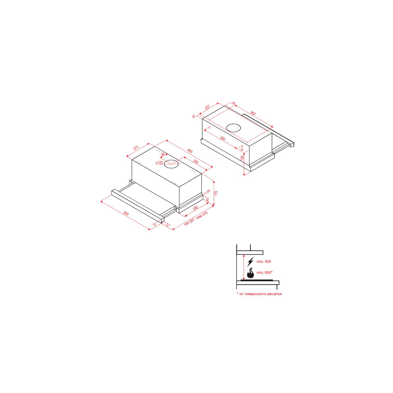 Вытяжка кухонная PERFELLI TL 5010 I изображение 5
