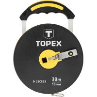 Рулетка Topex лента измерительная стекловолокно, 30 м (28C533)