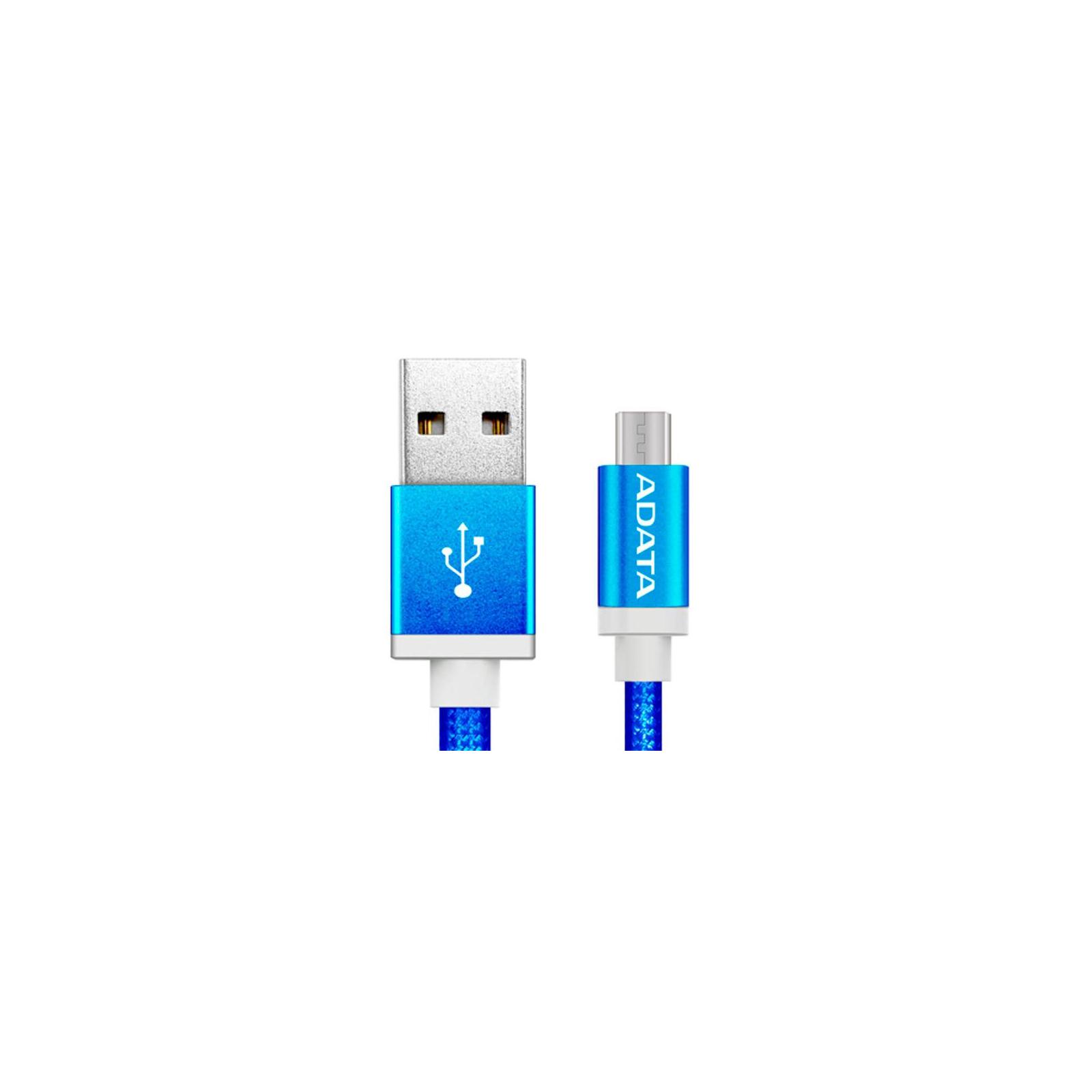 Дата кабель USB 2.0 AM to Micro 5P 1.0m Blue ADATA (AMUCAL-100CMK-CBL) изображение 2