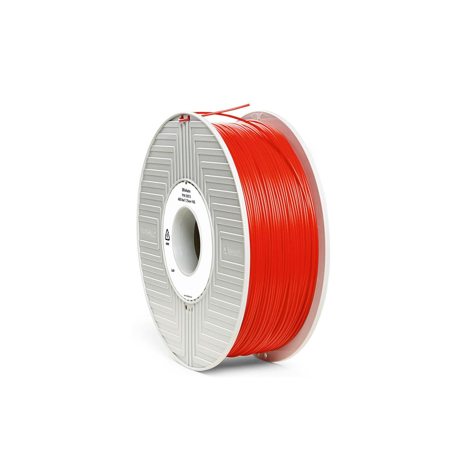 Пластик для 3D-принтера Verbatim ABS 1.75 mm red 1kg (55013) изображение 2